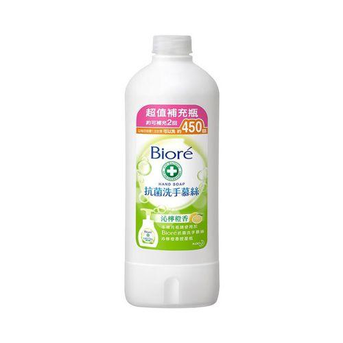【Biore 蜜妮】抗菌洗手慕絲清新茉莉香 補充瓶 450ml/瓶
