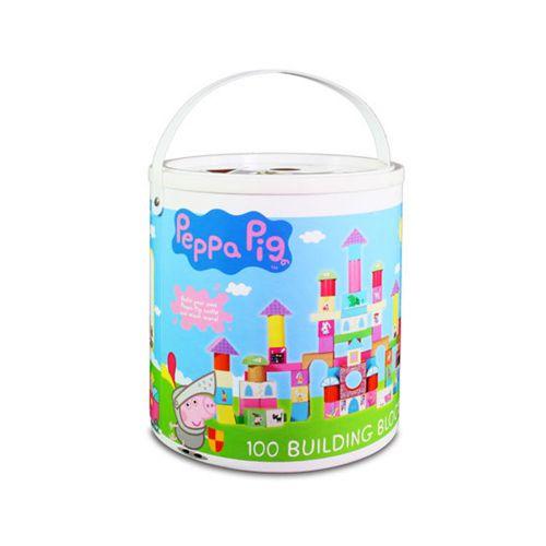【粉紅豬小妹】配對圖型桶裝積木/桶