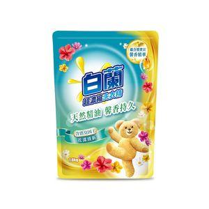 白蘭-含熊寶貝精華花漾清新洗衣精補1.6kg/包
