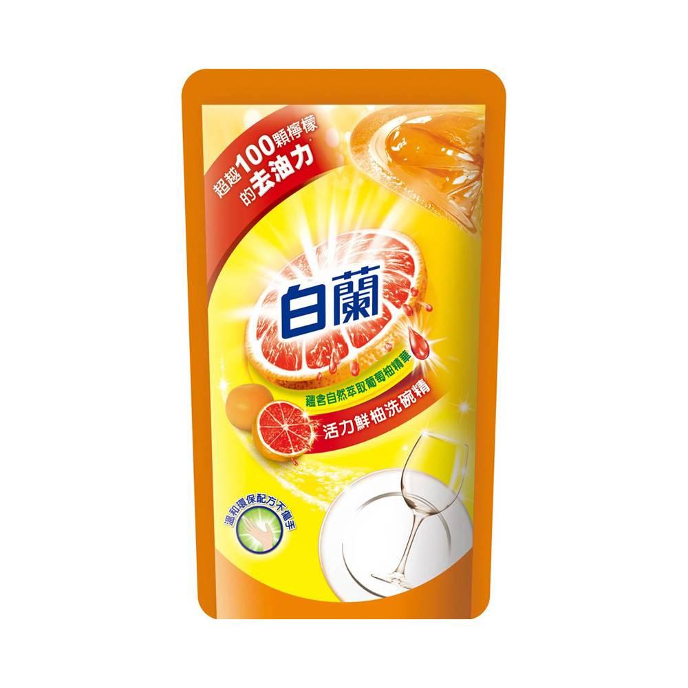 白蘭-全新動力鮮柚洗碗精(補)800g/袋