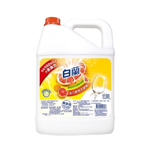 白蘭-全新動力配方鮮柚洗碗精4.5kg/瓶