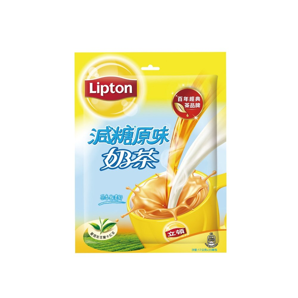 立頓-減糖奶茶粉量販包17gX20入/袋