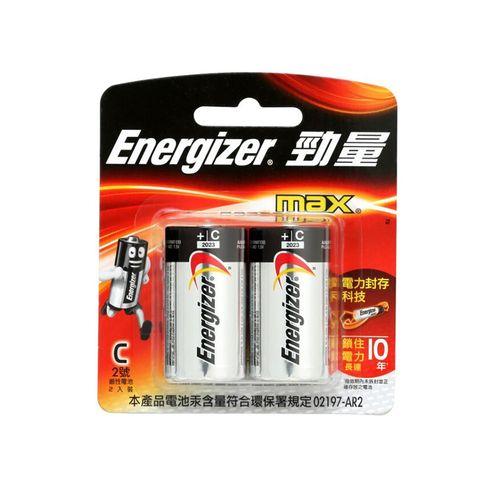 勁量-鹼性2號電池2顆/卡