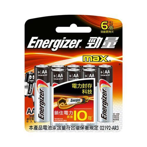 勁量-鹼性3號電池8顆/卡