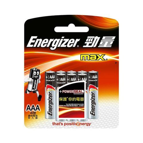 勁量-鹼性4號電池8顆/卡