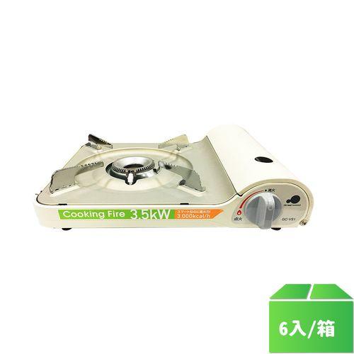 卡旺-格林伍德gCVS1(C)P攜帶式卡式爐白/台6入/箱