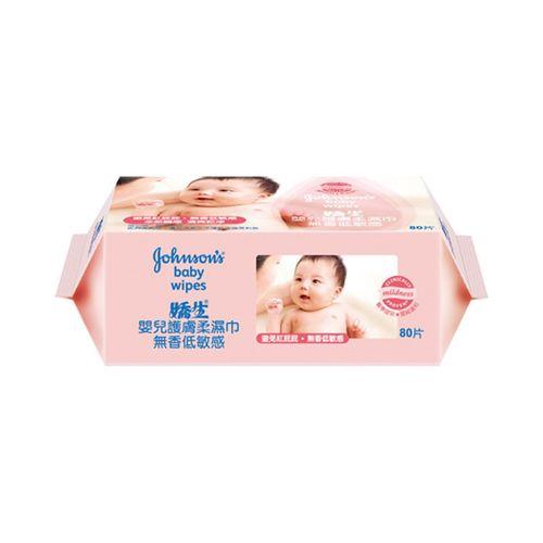 嬌生-嬰兒低敏感護膚柔濕巾80片/包