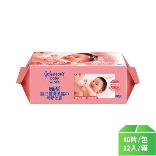 嬌生-嬰兒經典香護膚柔濕巾80片/包12入/箱