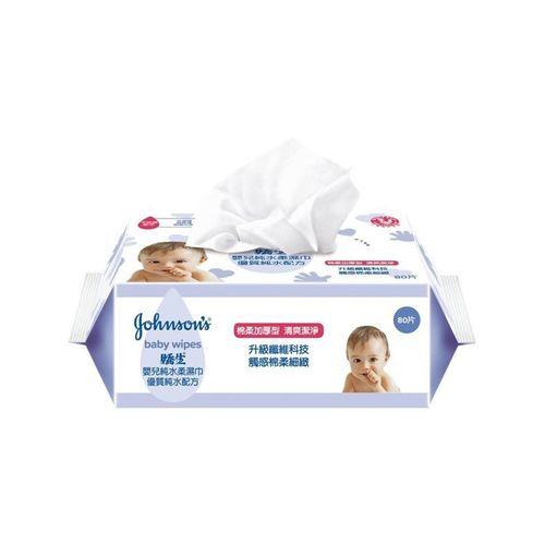 嬌生-嬰兒加厚純水柔濕巾80片x3入/包