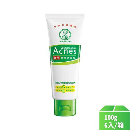 曼秀雷敦-Acnes藥用抗痘洗面乳100g/瓶6入/箱