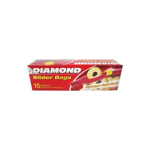 鑽石牌-夾鏈袋20.3cm中(15入)/盒