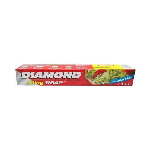 鑽石牌-PE保鮮膜30cmx100呎/盒