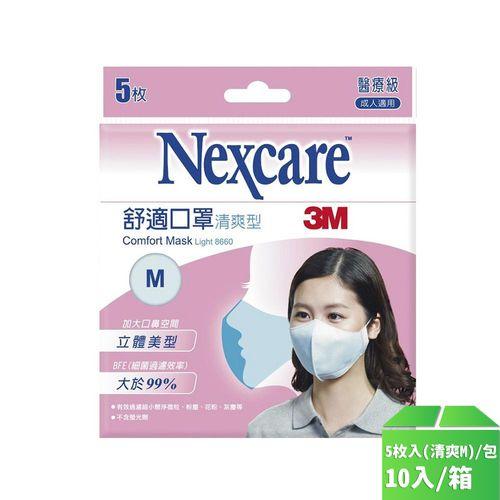 3M-醫用成人口罩5枚入(清爽M)/卡10入/箱