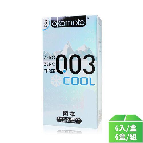 岡本OK-003COOL冰炫6入/6盒/組