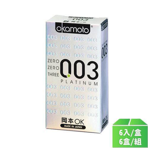 岡本OK-003白金6入/6盒/組