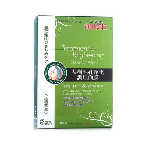 森田藥妝-茶樹毛孔淨化調理面膜8入/盒