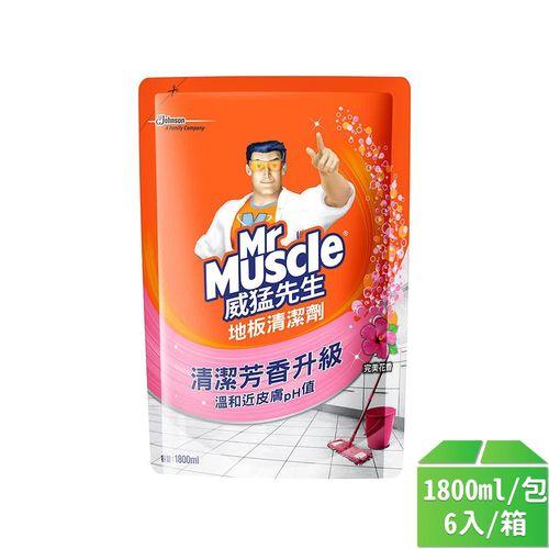 威猛先生-愛地潔地板清潔劑-補-花香1800ml/6入/箱