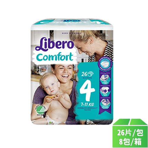 麗貝樂嬰兒尿褲M號26片-8包/箱