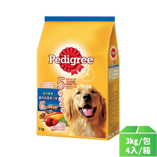 寶路-乾糧雞肉及蔬菜口味 3kg/包4入/箱