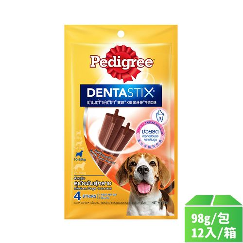 寶路-X型潔牙骨牛肉口味 中型犬專用98g/包12入/箱