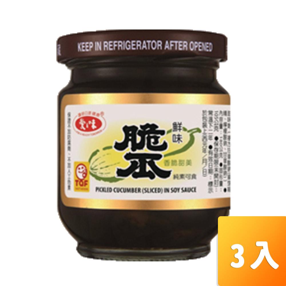 愛之味-脆瓜180g/罐3入/組