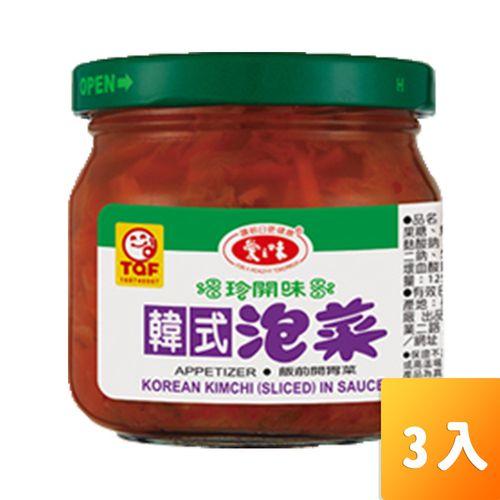 愛之味-韓式泡菜190g/罐3入/組