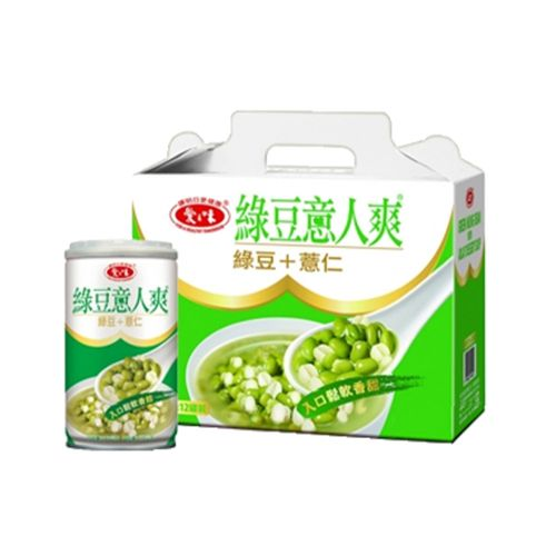 愛之味-綠豆薏仁340g/罐(12入/盒)