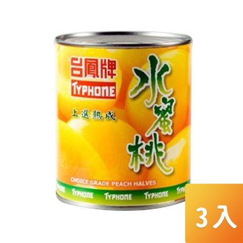 台鳳-水蜜桃820g/罐3入/組