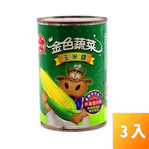 牛頭牌-玉米醬418g/罐3入/組