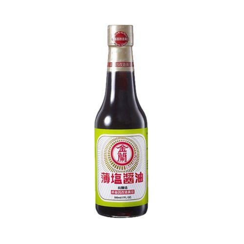 金蘭-薄鹽醬油(非基改)500ml/瓶