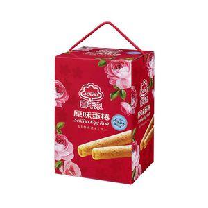 喜年來-原味蛋捲大發禮盒384g/盒(4支x6包)