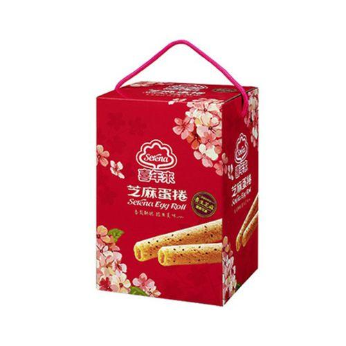 喜年來-芝麻蛋捲大發禮盒384g/盒(4支x6包)