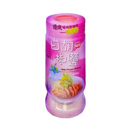真好家-大罐白胡椒鹽(恰恰罐)485g/罐