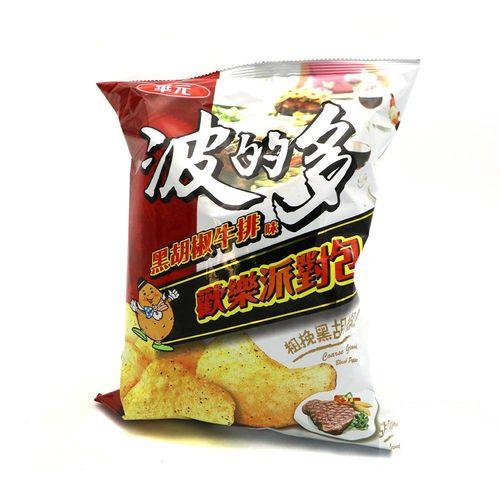 華元-洋芋片黑胡椒牛排(派對包)150g/袋