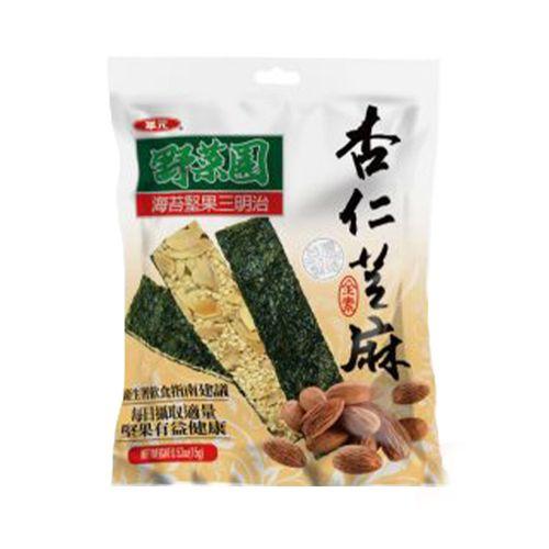 華元-野菜園杏仁芝麻海苔片60g/袋
