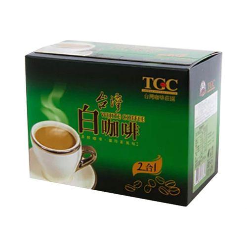 台灣古坑-2合1白咖啡(綠盒)22gx10包/盒