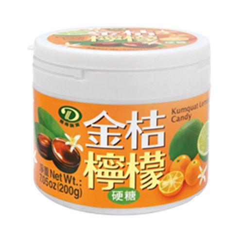 綠得-金桔檸檬喉糖200g/罐