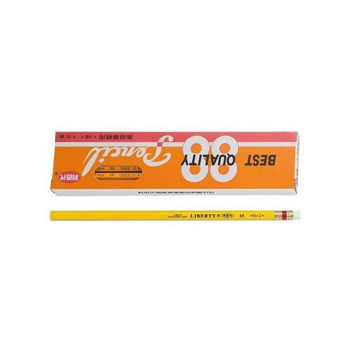 利百代◎88 HB皮頭黃桿鉛筆-12入/盒
